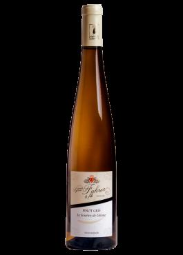 Bouteille de Pinot Gris Sourire de Liliane, vin moelleux.