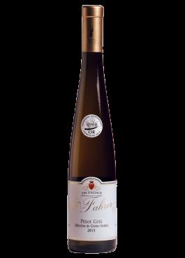 Bouteille de Pinot Gris Sélection Grains Nobles, vin moelleux.