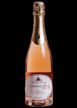 Bouteille de Crémant Rosé, vin pétillant.
