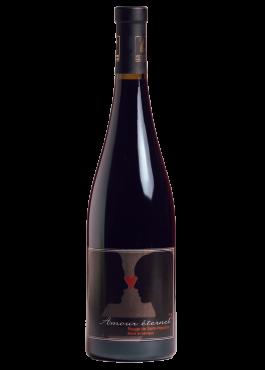 Bouteille d'Amour Éternel, vin rouge Pinot Noir.