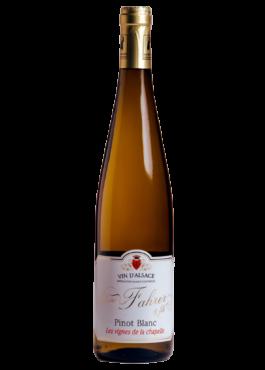 Bouteille 100cl de Pinot Blanc, vin sec léger.